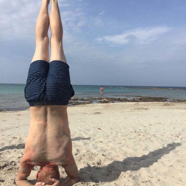 Gay Yoga Tour Italy Beach