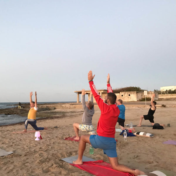Gay Yoga Holiday Evening Beach