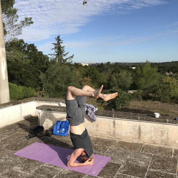 Gay Yoga Holiday Headstand