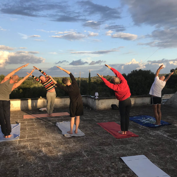 Gay Yoga Holiday Rooftop Practice
