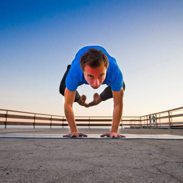 Gay Yoga Instructor balance