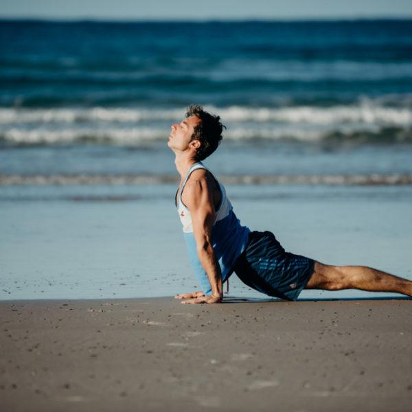 Gay Yoga Instructor posture