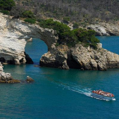BCJKEY Vieste Puglia Italy Gargano Region Natural limestone arch Cala di San Felice