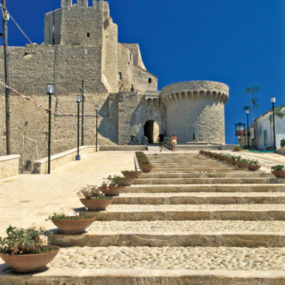 CMNEY2 Italy Apulia Gargano National parc Tremiti Islands The Fortress of San Nicola Island