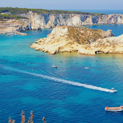 FBC2A0 Speedboat crossing the Adriatic Isole Tremiti Apulia Puglia Italy Europe
