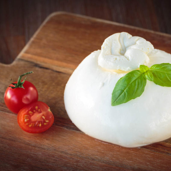 Burrata mozzarella cheese made with fresh milk