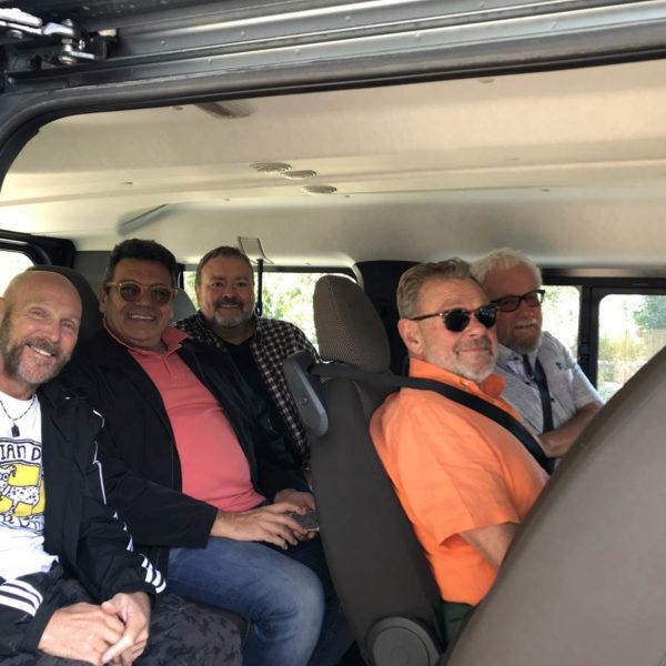 Gay Foodies Tour taxi!