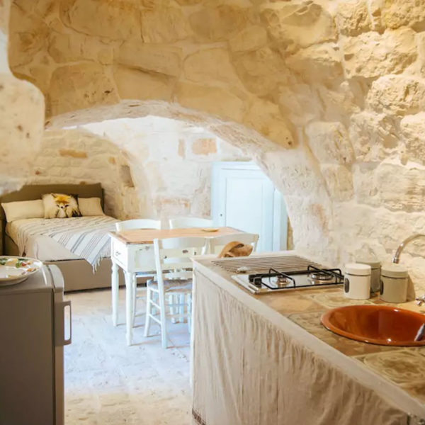 Gay foodies tour exclusive Masseria bedroom