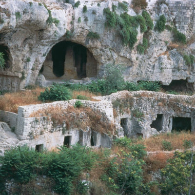 Troglodyte settlement in the ravine of San Marco