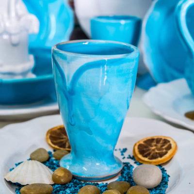 Hand decorated ceramic pots in Grottaglie