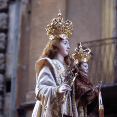 Statue of the Madonna del Carmine with Child, Taranto, Apulia, Italy