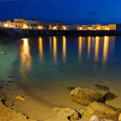 La Purita Beach in the old town of Gallipoli, Puglia
