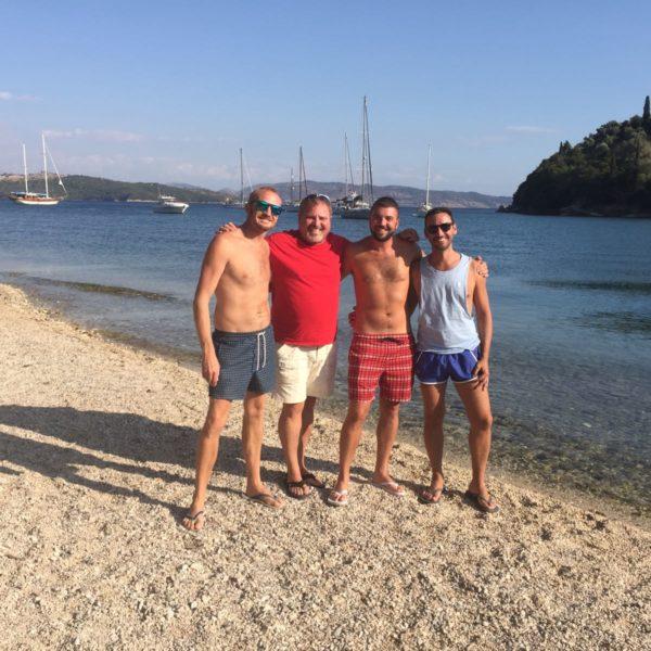 Beach life, bay in the all gay sailing island