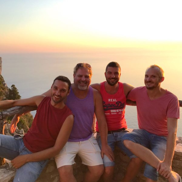 Sunset with amazing views all gay sailing